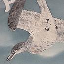 大空に鳩染名古屋帯 質感・風合