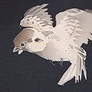 雀たちの切継名古屋帯 質感・風合