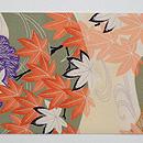藁の束に紅葉の図名古屋帯 前中心