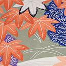 藁の束に紅葉の図名古屋帯 質感・風合