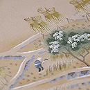 稲の刈入れ風景染名古屋帯 質感・風合