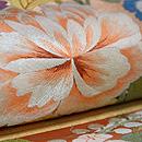 秋の花尽くし刺繍袋帯 質感・風合