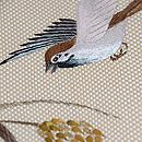 雀と稲穂刺繍帯 質感・風合
