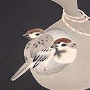 雀と瓢箪名古屋帯 質感・風合