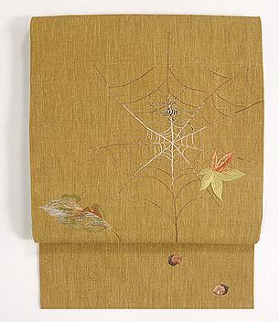 蜘蛛の巣の刺繍帯