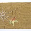 蜘蛛の巣の刺繍帯 前中心