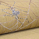 蜘蛛の巣の刺繍帯 質感・風合