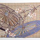 枝垂れ桜に車輪刺繍帯 前中心