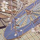 枝垂れ桜に車輪刺繍帯 質感・風合