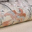 枝垂れ桜に群れる小鳥の名古屋帯 質感・風合