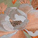 牡丹と蝶の刺繍帯 質感・風合