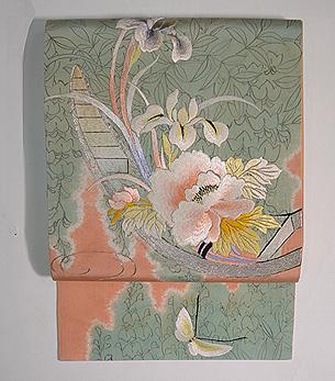 花筏刺繍名古屋帯
