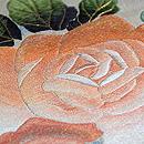 薔薇の丸帯 質感・風合