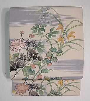 四季の花染名古屋帯