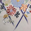 間垣に檜扇鉄線と菊の刺繍袋帯 前中心