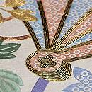 間垣に檜扇鉄線と菊の刺繍袋帯 質感・風合