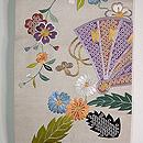 檜扇とたんぽぽの刺繍袋帯 97200円