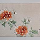 蹴鞠に八重桜刺繍名古屋帯 前中心