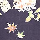 黒地大輪菊の名古屋帯 前中心