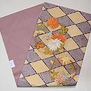疋田菱に菊と紅葉丸の名古屋帯 帯裏
