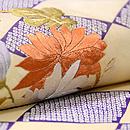 疋田菱に菊と紅葉丸の名古屋帯 質感・風合