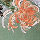 金銀糸斜め通しに大輪菊の袋帯 前中心