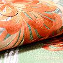 金銀糸斜め通しに大輪菊の袋帯 質感・風合
