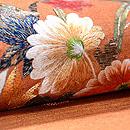 煉瓦色に花車の名古屋帯 質感・風合