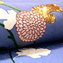 菊枝に七宝繋ぎの刺繍名古屋帯 質感・風合