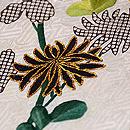 江戸小袖崩し白地に菊の名古屋帯 質感・風合
