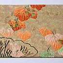 桔梗の刺繍名古屋帯 前中心