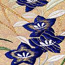桔梗の刺繍名古屋帯 質感・風合