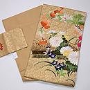 柴垣に秋野の刺繍袋帯 帯裏