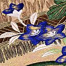 柴垣に秋野の刺繍袋帯 質感・風合