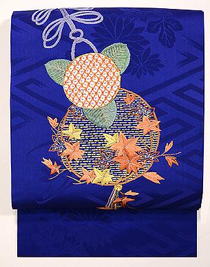 くす玉の刺繍名古屋帯