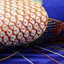 くす玉の刺繍名古屋帯 質感・風合