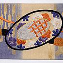 楽器の刺繍名古屋帯 前中心