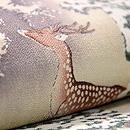雪中鹿の図名古屋帯 質感・風合