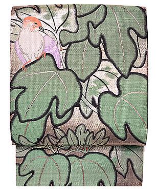 アオギリに小鳥の名古屋帯
