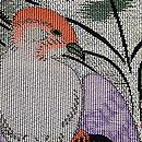 アオギリに小鳥の名古屋帯 質感・風合