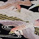 雪持ち笹に雀の刺繍名古屋帯 質感・風合