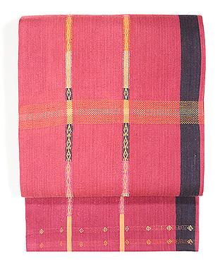 インドネシア・経縞紋織り名古屋帯