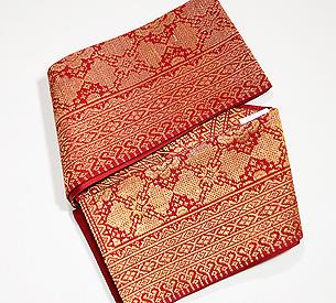 スマトラ・モール織り半幅帯
