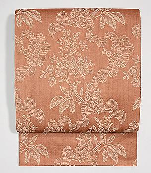 フランス・緞子地綾織り名古屋帯