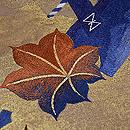金地紅葉刈りの袋帯 質感・風合