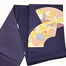 紺地扇面の袋帯 帯裏
