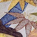 紺地扇面の袋帯 質感・風合