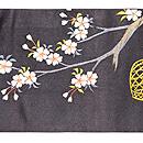 桜菊に尾長鳥の名古屋帯 前中心