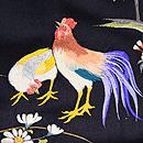 桜菊に尾長鳥の名古屋帯 質感・風合