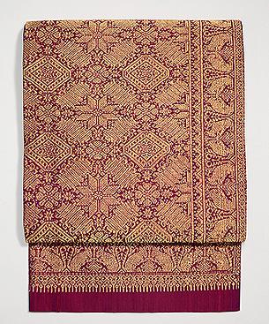 インドネシア・モール織の名古屋帯